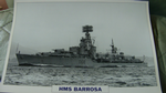 HMS Barrosa 1945 Destroyer warship framed picture (19)